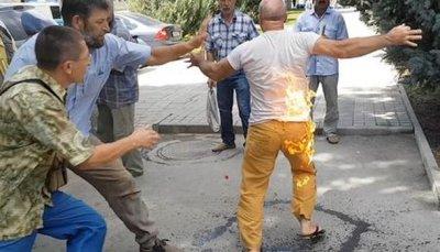 Как организовывалось «самосожжение» татарина уадминистрации Симферополя - «Новости дня»