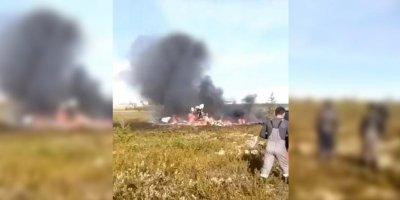 Опубликовано видео с места крушения Ми-8 с 18 погибшими