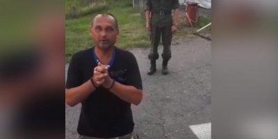 Участник АТО на коленях просил российских пограничников впустить его в страну