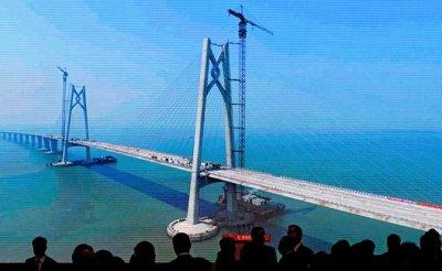 Мега-мост Китая: 420 тыс. тонн стали, подводный тоннель и 55 км пути - «Мир»