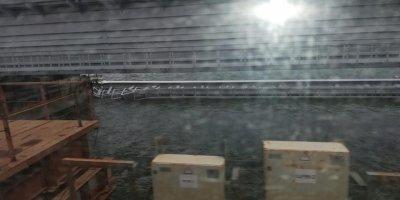 Появилось видео с обрушившимся пролетом Крымского моста