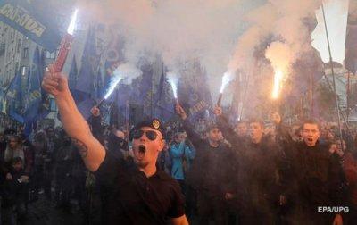 """""""Вернем Украину украинцам"""". Плакаты и кричалки на марше националистов - (видео)"""