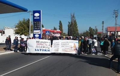 В Одесской области протестующие перекрыли дорогу - (видео)