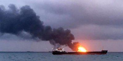 Горевшие в Черном море танкеры не смогли зайти в российский порт из-за санкций США