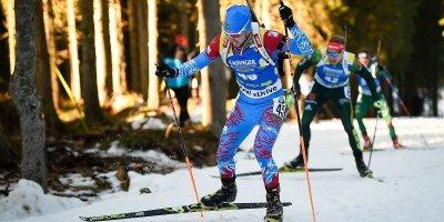 Мужская сборная России по биатлону завоевала золото в эстафете на Кубке мира