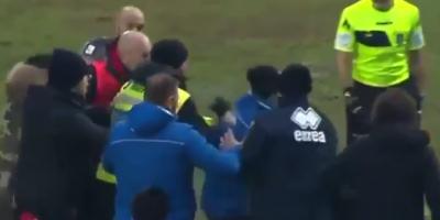 Тренер прямо на поле отправил в нокаут коллегу из клуба-соперника