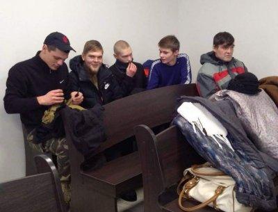 Украинские радикалы из «С14»* устроили беспорядки на заседании суда по слушанию дела журналиста Волкова - «Новороссия»