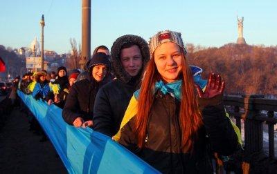 Живая цепь соборности в Киеве: как это былоЭксклюзив - «Украина»