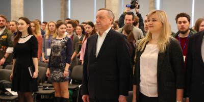 Беглов открыл образовательный форум студенческих отрядов в Санкт-Петербурге