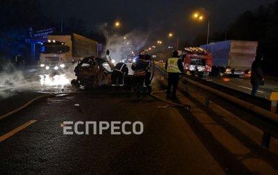 ДТП под Киевом: пассажирка сгорела заживо - «Украина»