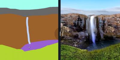 Американская нейросеть научилась превращать примитивные рисунки в фотореалистичные пейзажи