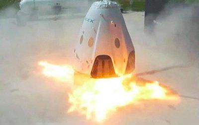 Испытания пилотируемого корабля SpaceX провалились - (видео)