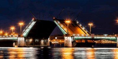 Итальянец на каршеринге попытался перелететь разведенный мост в Петербурге