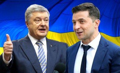 Киев, СК «Олимпийский»: Порошенко бросился на Зеленского и получил удар в челюсть - «Политика»
