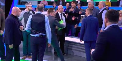 В эфире НТВ произошла потасовка из-за фашистского приветствия
