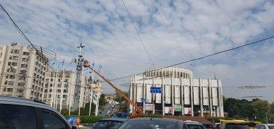 В центре Киева установлена официальная эмблема НАТО - «Новороссия»