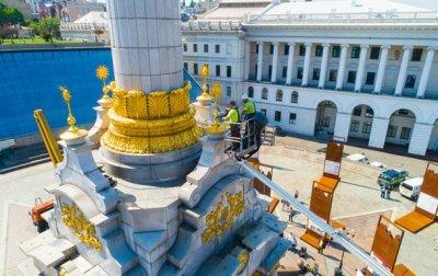 В Киеве помыли Монумент Независимости - «Украина»