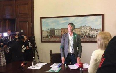 Заместителя мэра Львова облили краской - (видео)