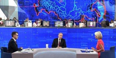 """""""Медиалогия"""" подсчитала популярность прямой линии с Путиным в интернете"""