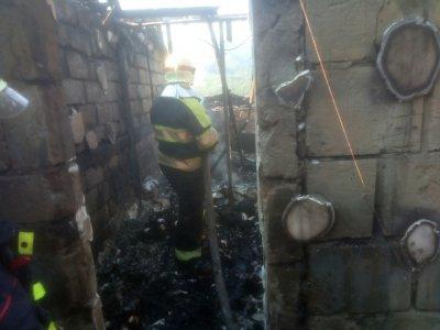 На Закарпатье сгорело здание туристического комплекса - «Новороссия»