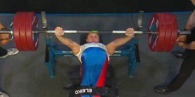 Российский тяжелоотлет-паралимпиец побил рекорд Европы