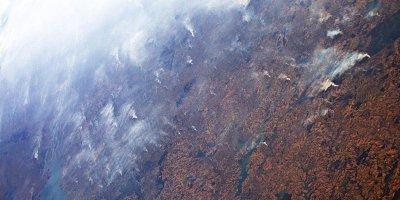 Космонавт снял лесные пожары в Бразилии с борта МКС