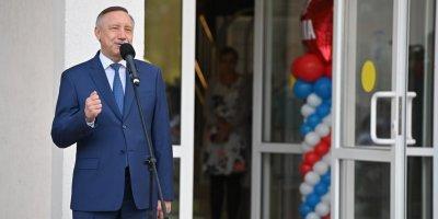 Беглов открыл новое здание школы в Красногвардейском районе Петербурга