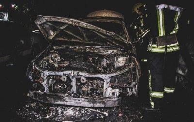 В Киеве ночью сгорели три авто - (видео)
