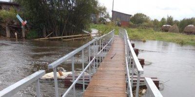 В Свердловской области новый мост провалился спустя сутки после открытия