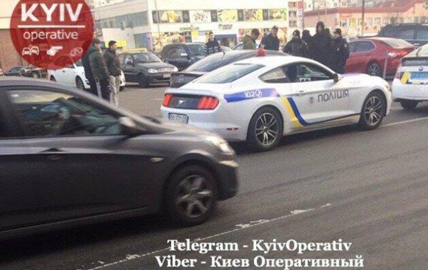 В Киеве задержали Mustang в полицейской раскраске - «Украина»